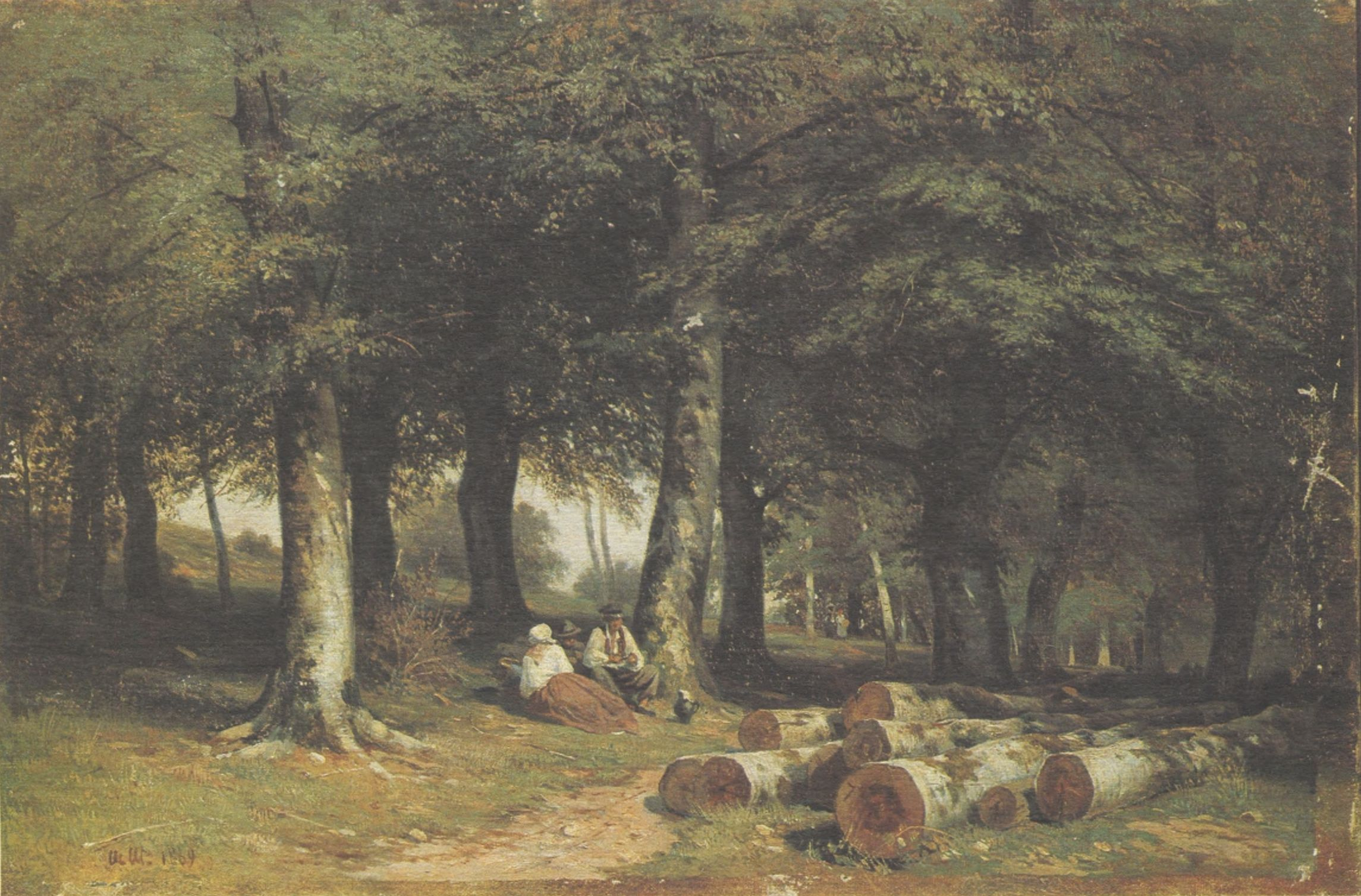6. В роще. 1869 (In the Grove. 1869)