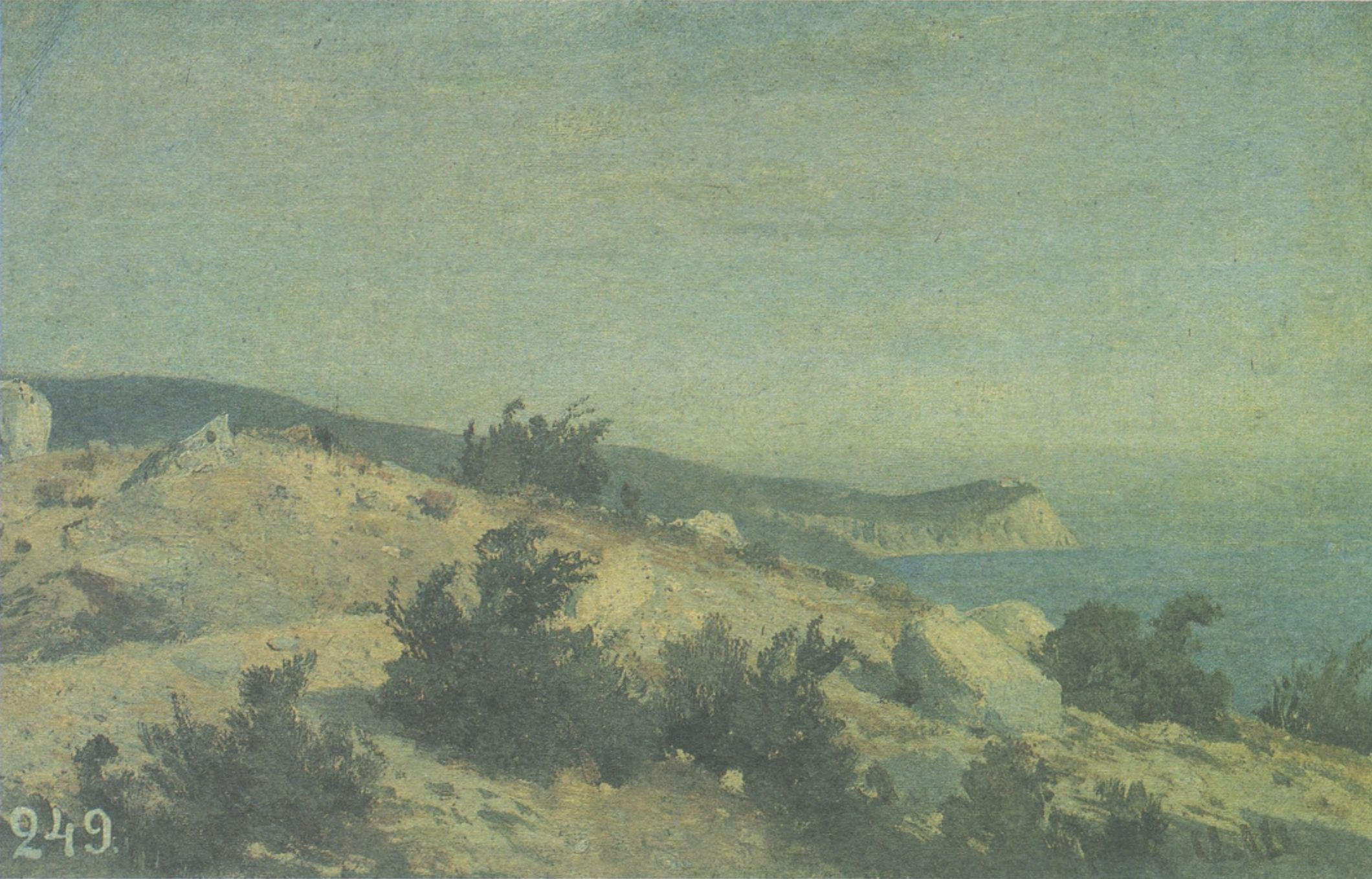 34. Мыс Ай-Тодор. Крым. Этюд. 1879 (Cape Ai-Todor. The Crimea. Study. 1879)