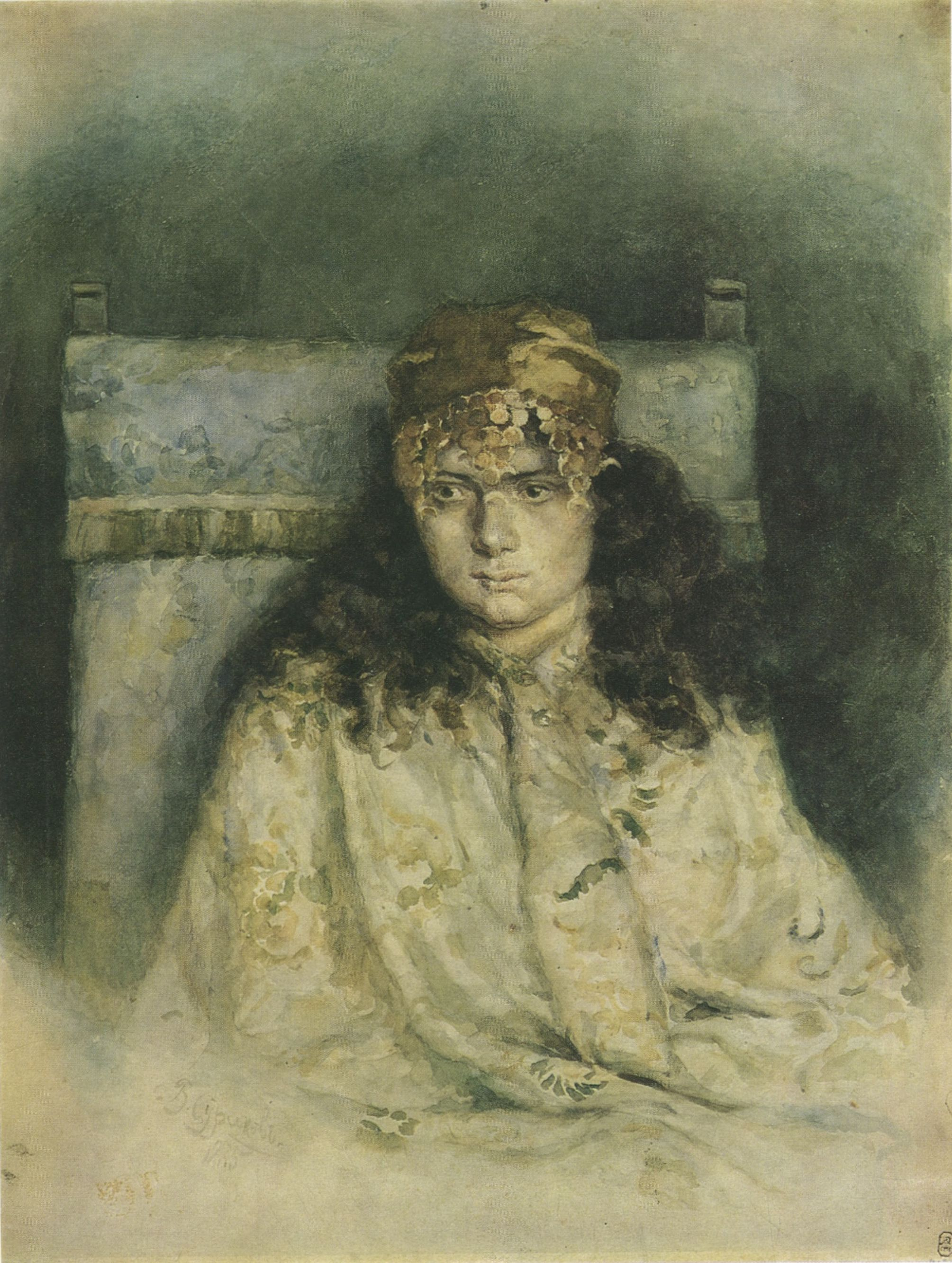 49. Женский портрет. 1885 (Portrait of a Woman. 1885)